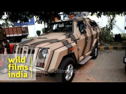 Bulletproof armored vehicle Mahindra Marksman from India  YouTube