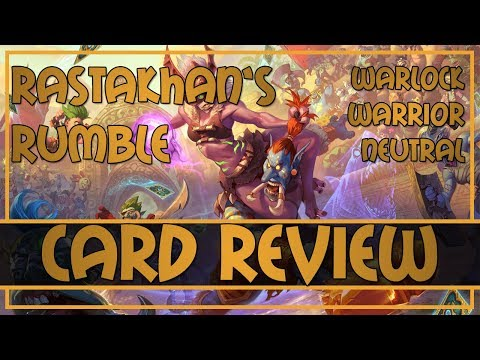 Rastakhan's Rumble card review - Warlock, Warrior and Neutral legendaries cards | Hearthstone