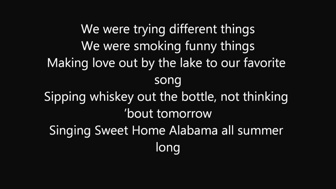 Kid Rock All Summer Long Lyrics Youtube