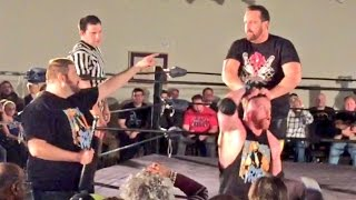 GRIM MANAGES CURT HAWKINS VS TOMMY DREAMER SWF INDY WRESTLING MATCH ACTION!
