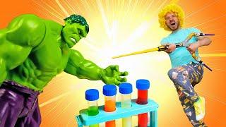 Супергерои - нерферы: смешное видео . Игры стрелялки.