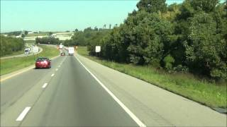 Tennessee - Interstate 40 West - Mile Marker 250-240 (8/21/12)