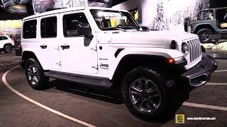 2019 Jeep Wrangler Sahara - Exterior and Interior Walkaround - 2019 Detroit Auto Show