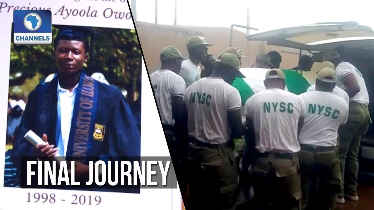Channels TV reporter, Owolabi, buried with full NYSC honours