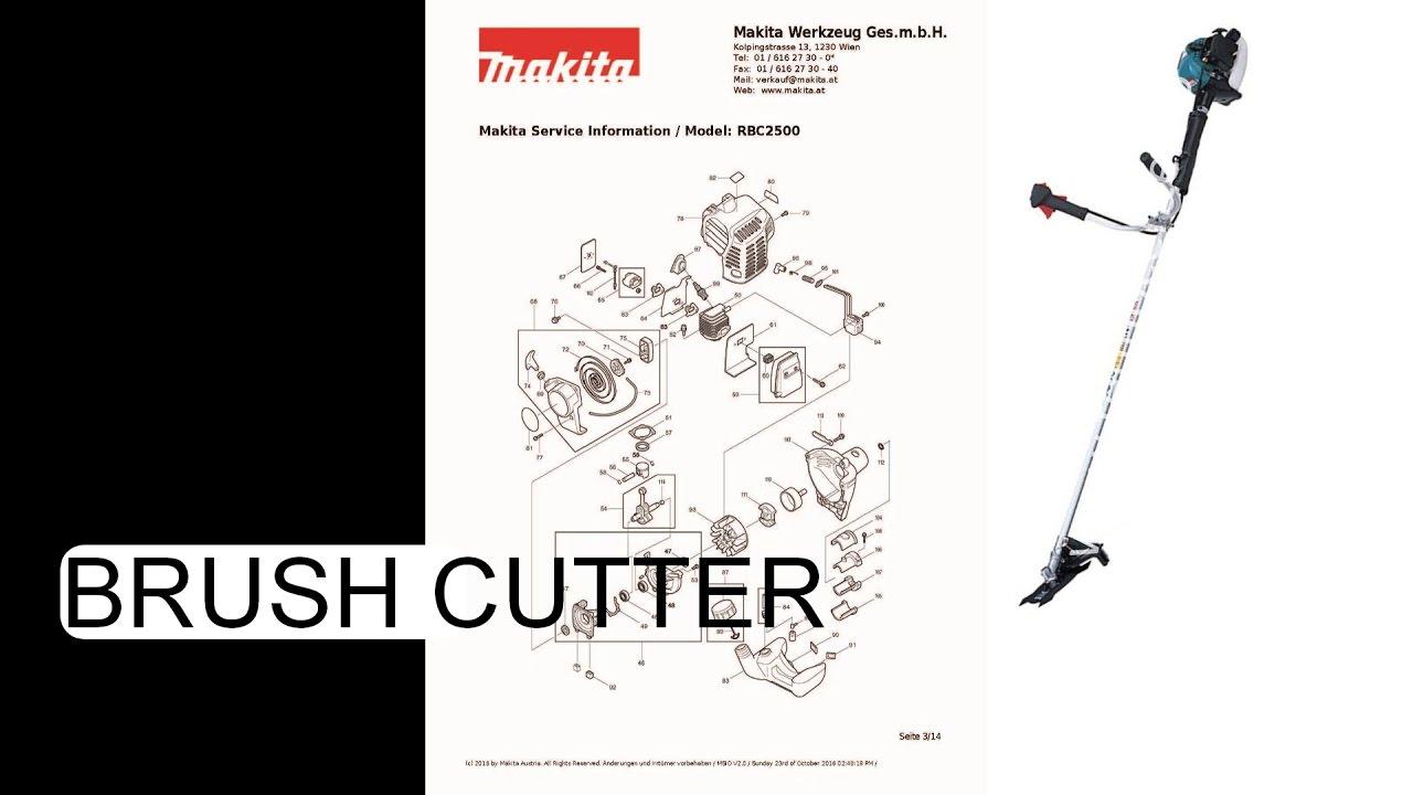service manual makita rbc 2500 brush cutter youtube rh youtube com makita 6095d service manual makita dc18ra service manual