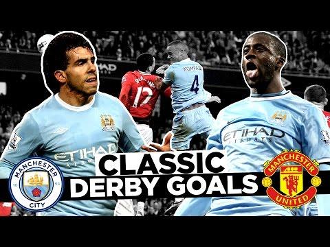 BEST EVER MANCHESTER DERBY GOALS! | Man City v Man United 1969-2017