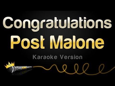 Post Malone ft. Quavo - Congratulations (Karaoke Version)