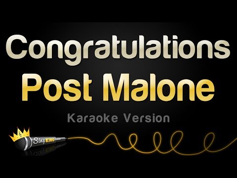 Post Malone ft Quavo  Congratulations Karaoke Version