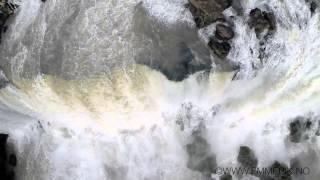 Iguazu falls filmed by a drone