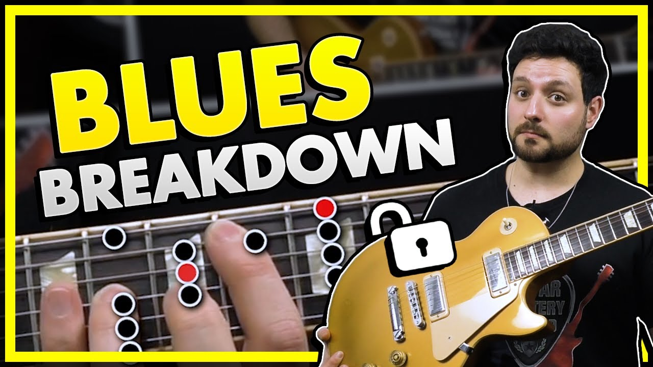 Blues Scale In A - Guitar Lesson Breakdown!