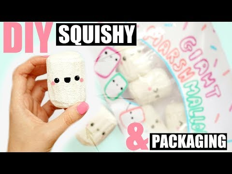 DIY JUMBO MARSHMALLOW SQUISHY... WITH PACKAGING