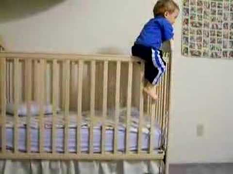 Adam Ernest Climbs Out Of His Crib For The First Time