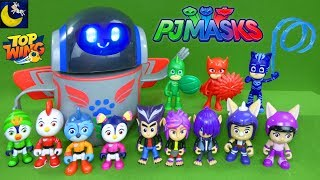 LOTS of PJ Masks and Top Wing Toys Robot Unboxing Toy Video For Kids Catboy Swift