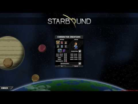 Starbound Let's Play Part 1 - Character Creation, Exploration and Premature Death!