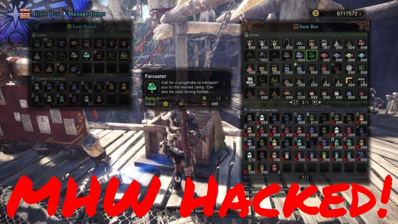 Monster Hunter: World - Game Breaking Cheats (NO BANS AS OF 8/14/2019)