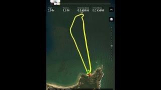 DJI Mavic Pro Critical Battery landing over water/range test - 6595.1 MTRS   Byron Bay