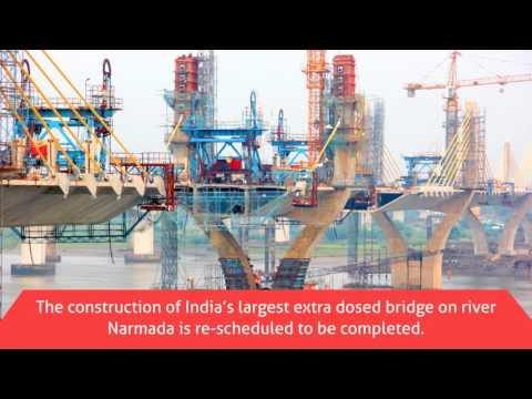 Narmada River Bridge Project in Bharuch Gujarat