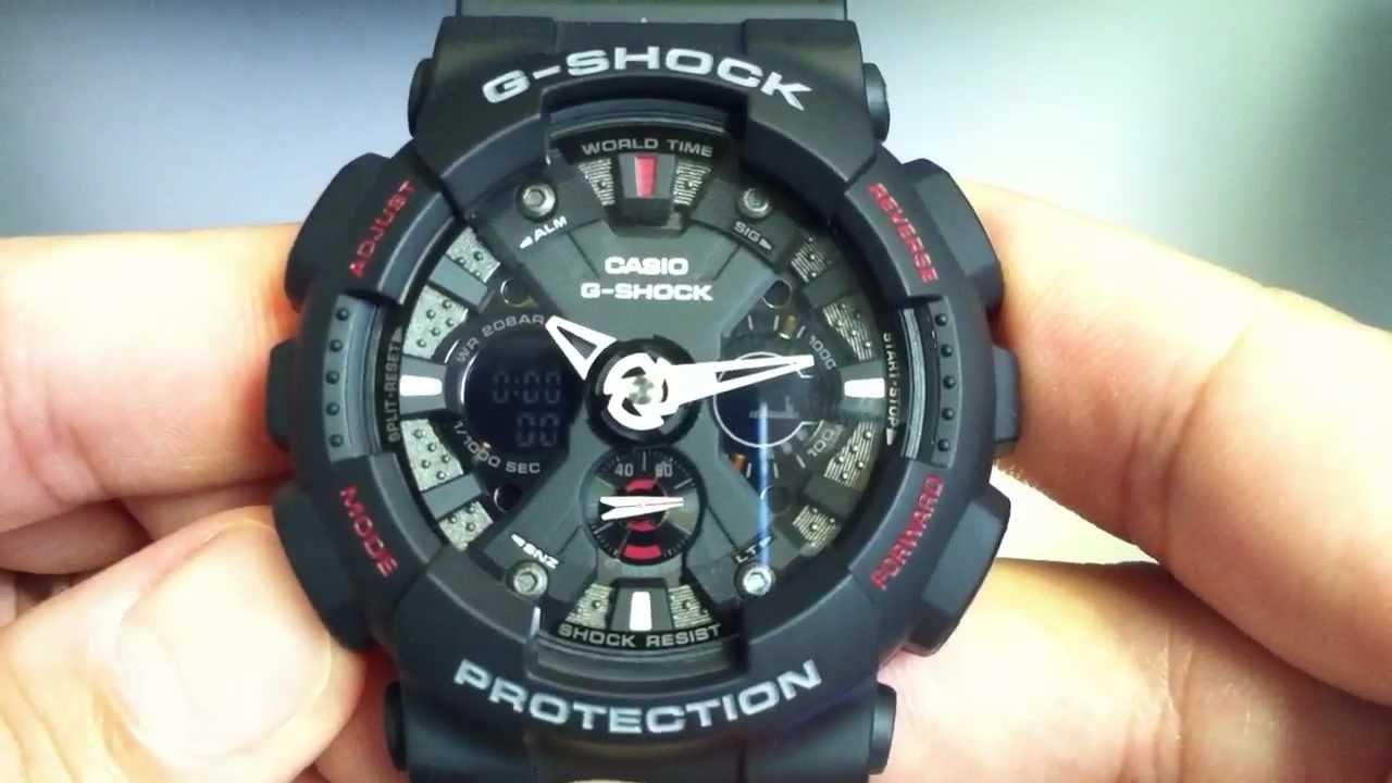 black casio g shock analog digital xl watch ga120 1a youtube rh youtube com casio 5082 aq-190w manual español casio g shock 5082 manual