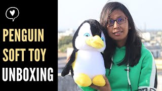Penguin Soft Toy Unboxing Cartoon Plush Soft Toy Unboxing Birthday Gift For Kids