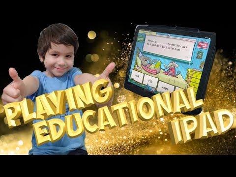 Playing Educational iPad Game | David Times!