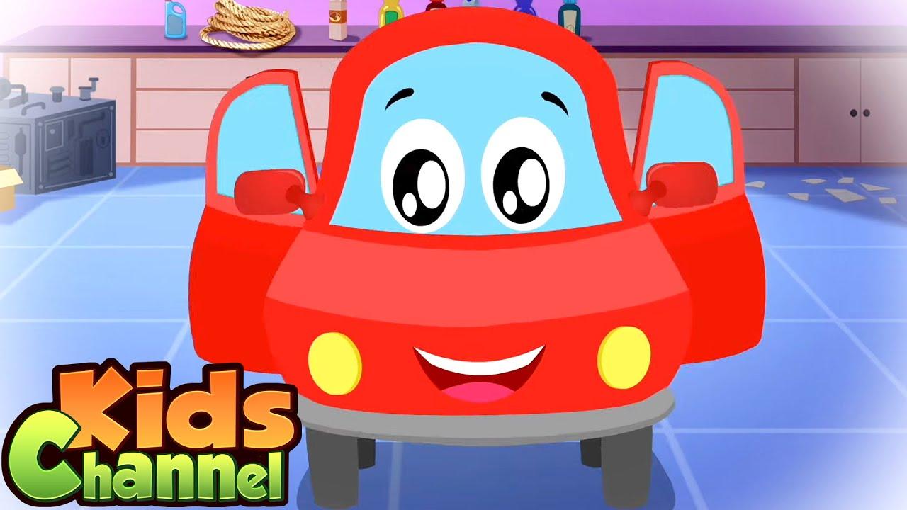 Head Shoulders Knees and Toes | Car Cartoons & Nursery Rhymes for Kids - Kids Channel
