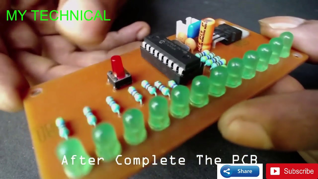 12 Led Chaser 8 Effects Make It Home Youtube Electronic Circuits For Beginners