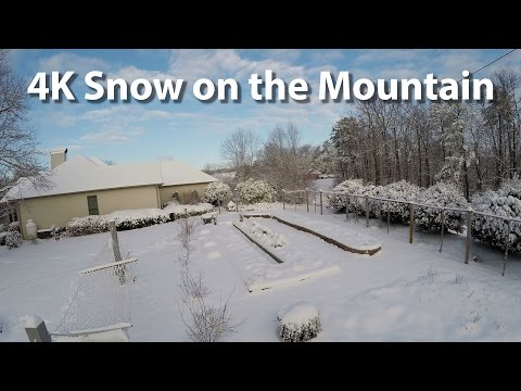 4K Snowy Day on Mineral Springs Mountain