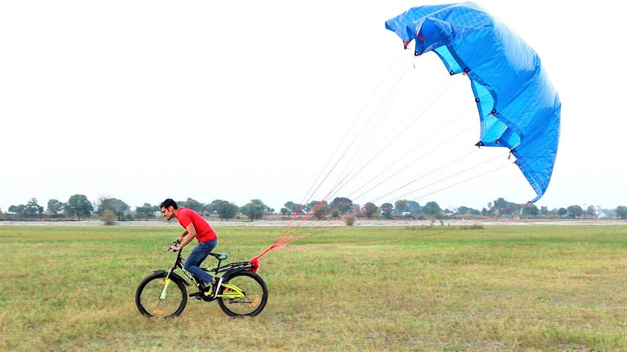 Parachute Attached On Bicycle | साइकिल के पीछे बाँध दिया पैराशूट | Ab Kya Hoga?