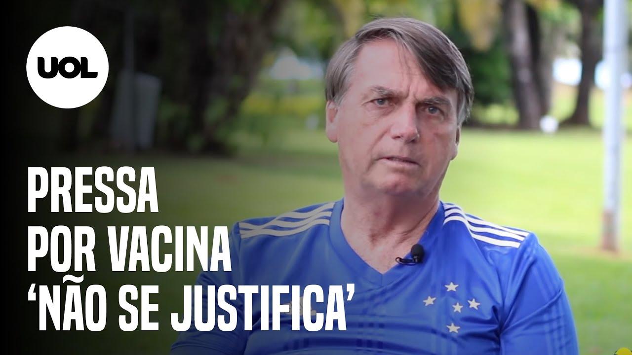 "Não se justifica"": Bolsonaro critica 'pressa' por vacina contra a covid-19  - YouTube"