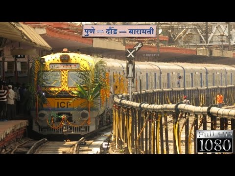 RESPITE FOR DAILY COMMUTERS | Inauguration of much-awaited Pune-Daund-Baramati DMU