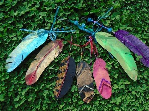 Fancy Paper Feathers