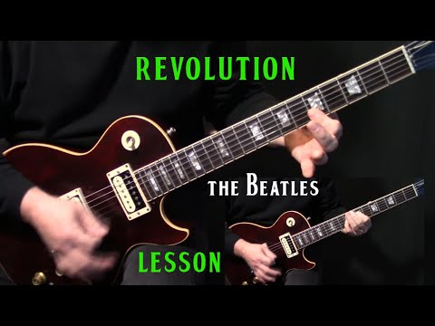 "how to play ""Revolution"" on guitar by The Beatles 