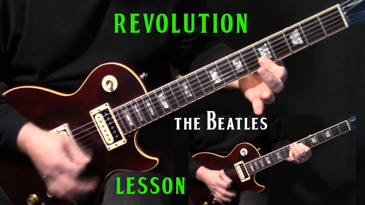 how to play revolution on guitar by the beatles electric guitar lesson tutorial youtube. Black Bedroom Furniture Sets. Home Design Ideas