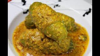 ঝাল মিষ্টি পুরভরা নিরামিষ পটলের দোরমা - Boishakhi Recipe - Niramish Potoler Dorma - Parwal Recipe