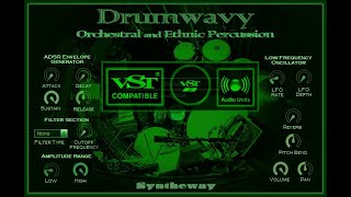 Syntheway Virtual Percussion Kit VST: Orchestral, Mallet, Latin, African, Indian Percussion Win Mac