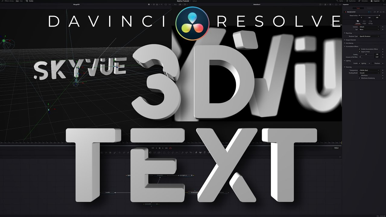 Simple 3D Title In Davinci Resolve 17 Fusion Tutorial