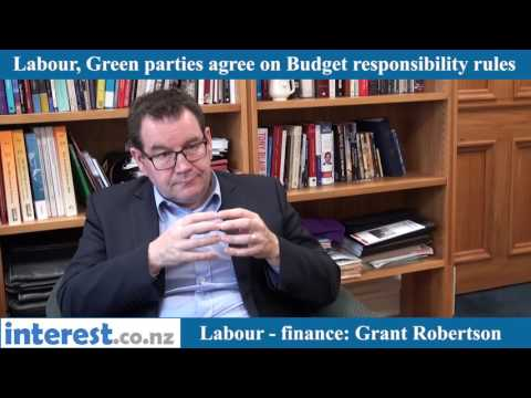 Grant Robertson discusses the Labour/Greens budget rules