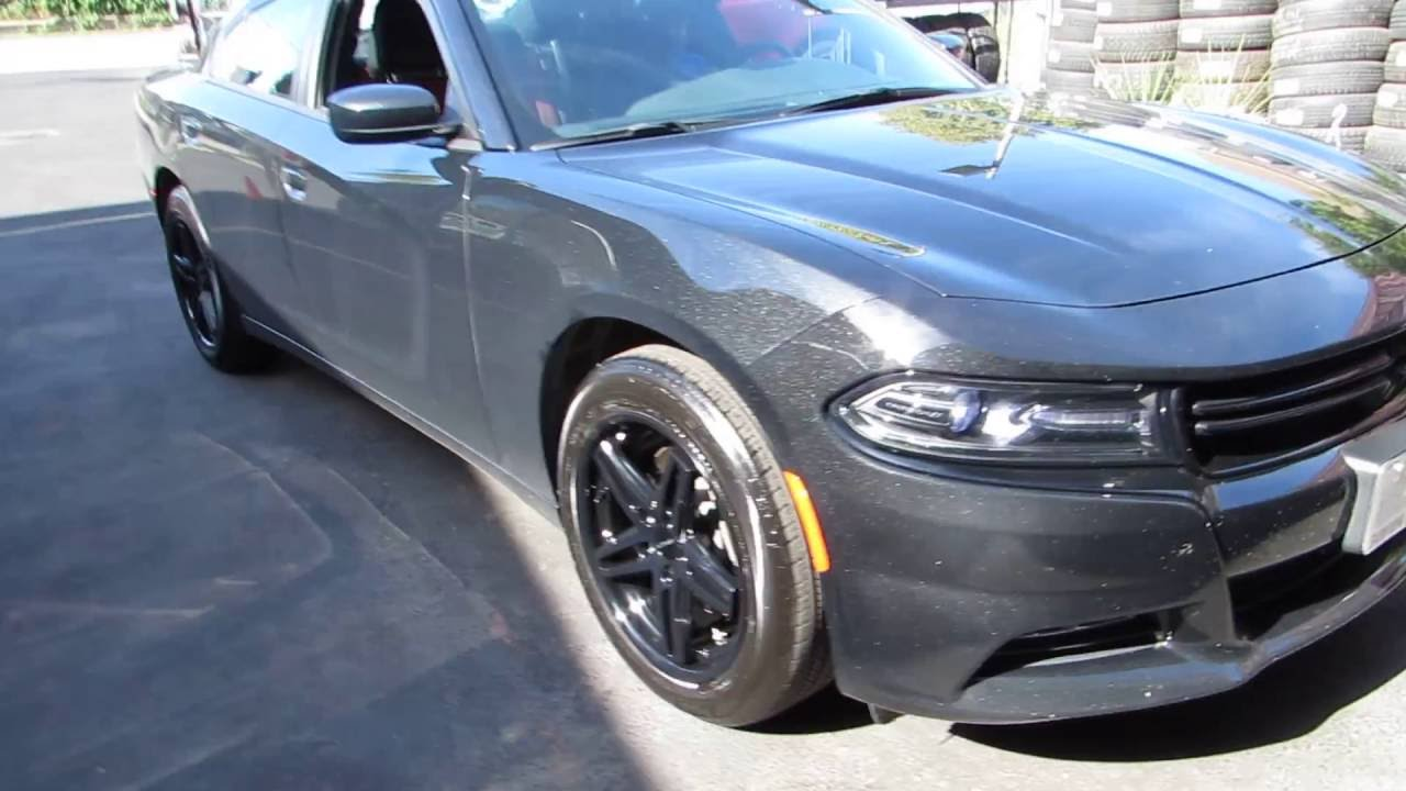 2017 Dodge Charger Rally Riding On Custom 19 Inch Concave Black Rims Tires You