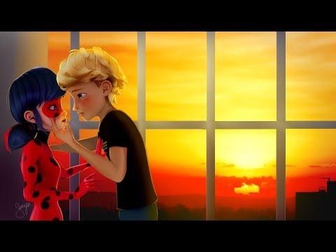 Kiss at sunset | Ladrien | Adriabug [Miraculous LadyBug Speededit]