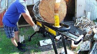 гидравлический дровокол Чемпион 5 тонн доработка Готовим дрова на зиму