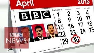 UK Election 2015: Leaders' pre-vote TV appearances explained