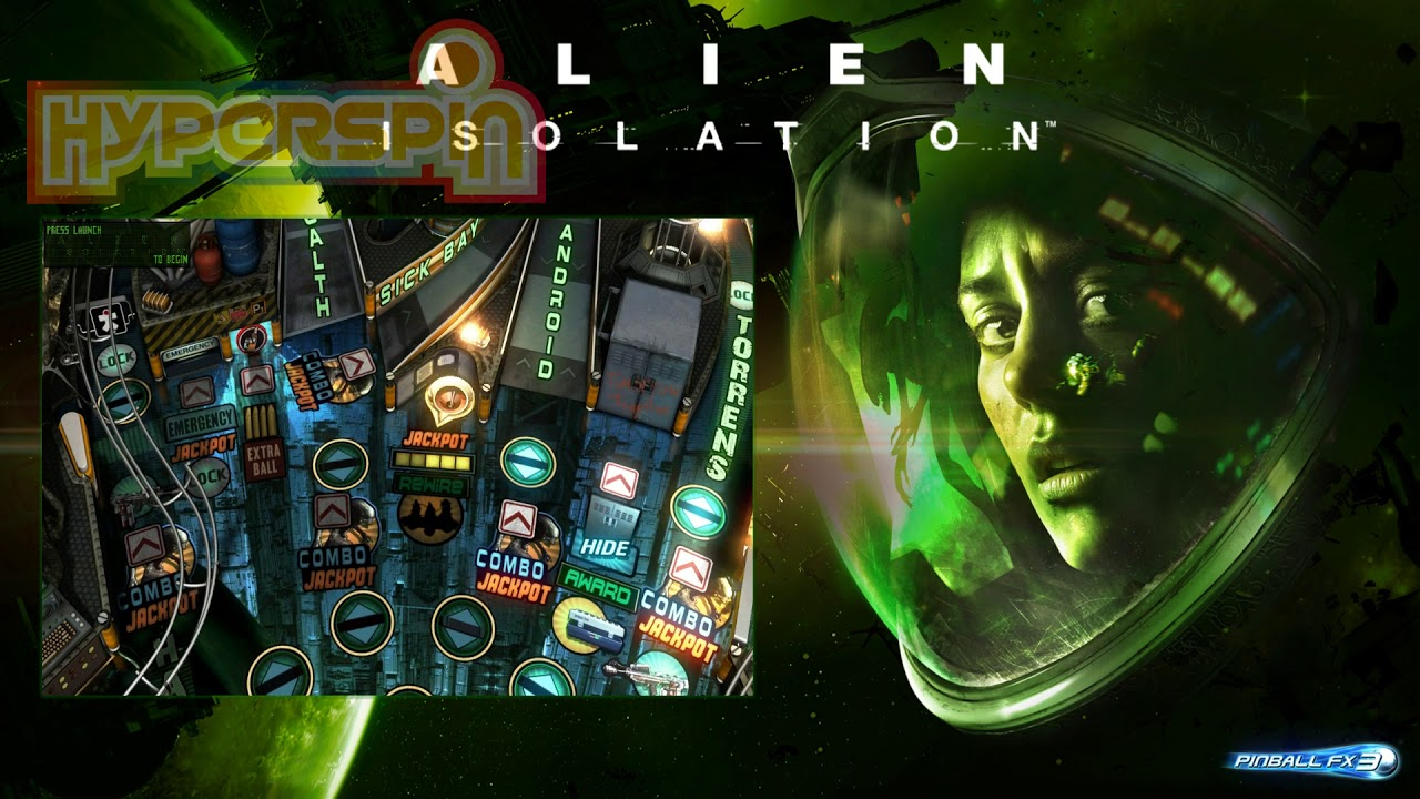 Pinball FX3 - Alien Isolation Cinematic 1080p Hyperspin