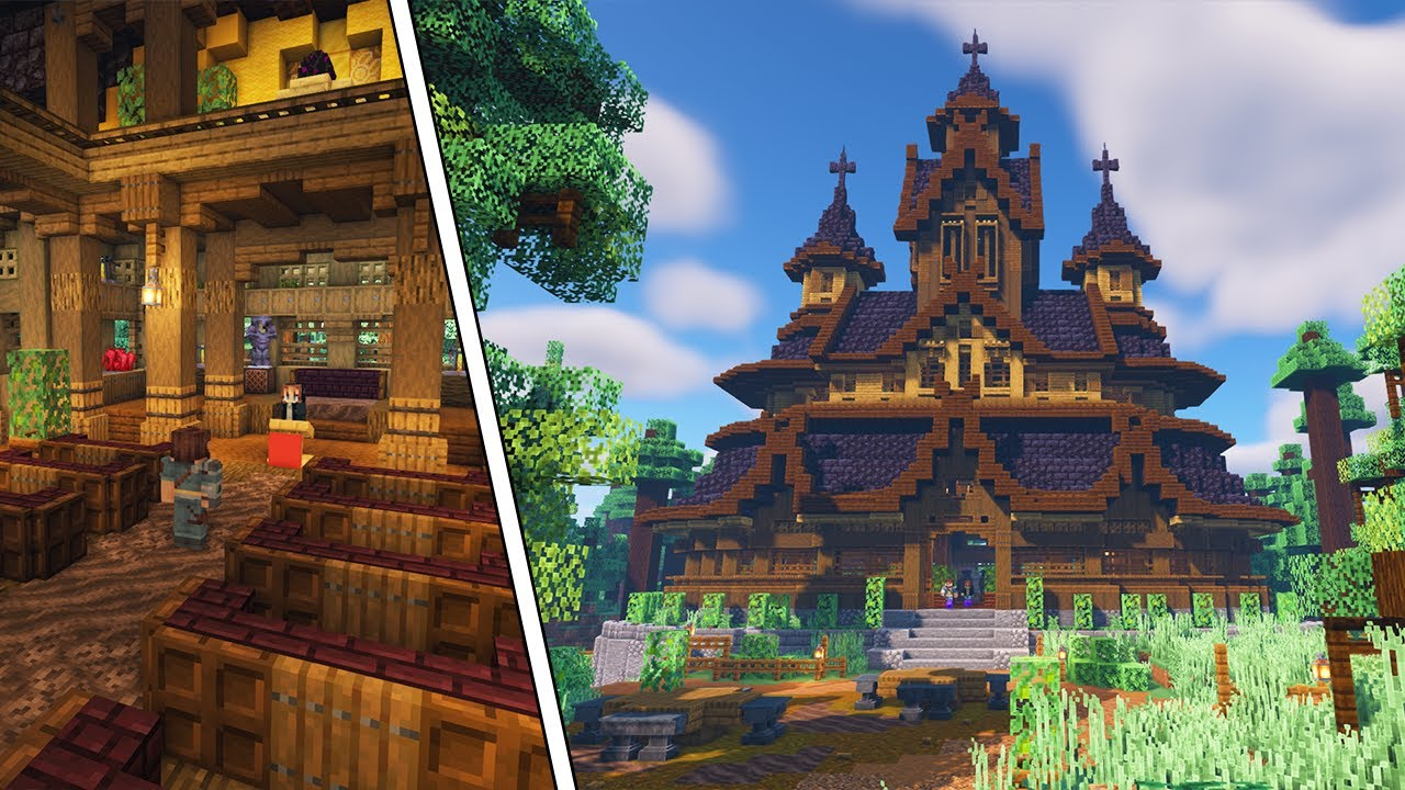 Building an Epic Minecraft Church, but It's Just for Potions!!!