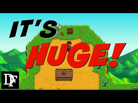 How BIG Can We Make It?! Expanding the Map! - Stardew Valley Gameplay 1080p
