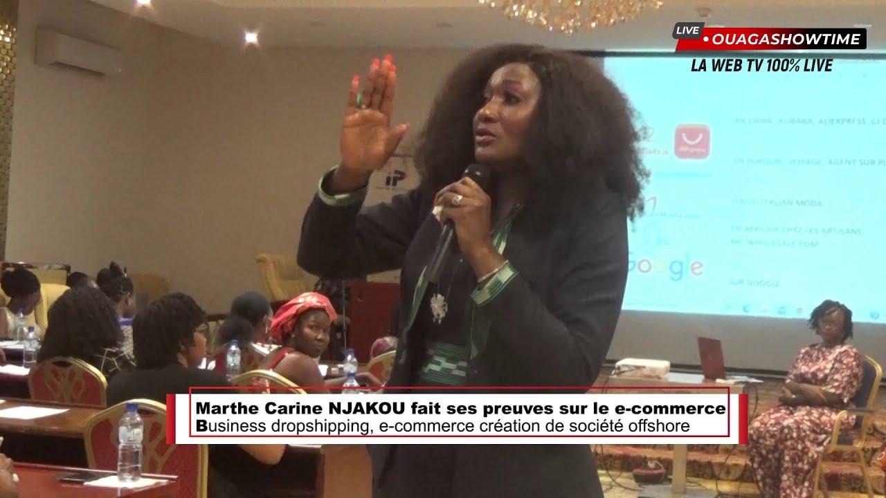 Marthe Carine NJAKOU fait ses preuves sur le e-commerce au Burkina Faso -  YouTube