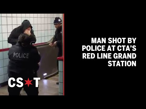 GRAPHIC: Man shot by police at CTA's Red Line Grand station