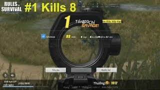 [Tập 1] Thử Thách Top 1   Kills 8 Top 1 Rules Of Survival   #1 Rules Of Survival