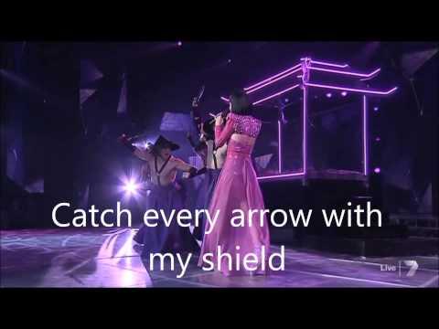 Dami Im - Gladiator (live on The X Factor Australia 2014) with lyrics [HD]