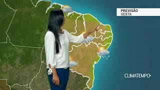 Previsão Nordeste – Chuva passageira no litoral