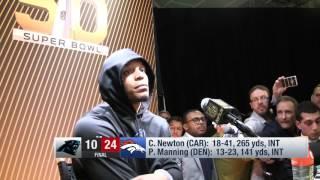 Super Bowl postgame loss comparison: Manning/Newton